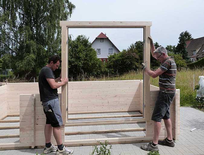 Gartenhaus aufbauen vom fundament bis zum fertigen gartenhaus - Gartenhaus bauen fundament ...